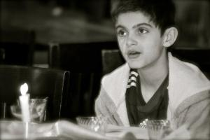 Boy2 at Seder Meal