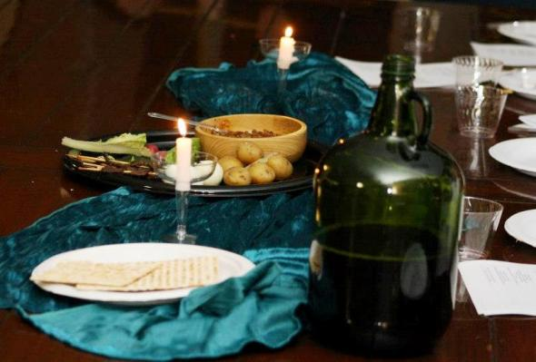 Seder Meal Table