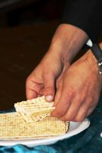 Unleavened Bread at Seder Meal