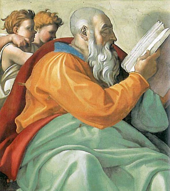 Zechariah -Hebrew prophet (Michelangelo)
