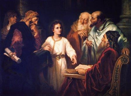 Jesus with the Teachers - by Heinrich Hofmann-